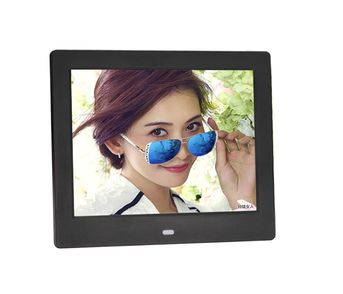 8 Inch Digital Photo Frame Square With  Loop Video
