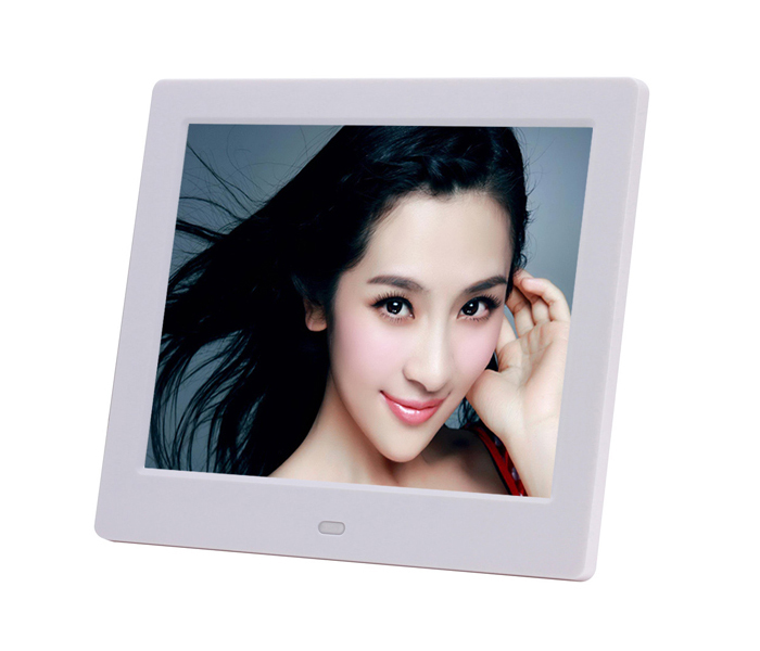 8Inch Digital Photo Frame Ultra Thin With Rechargeable Battery Optional