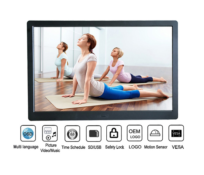 13.3 Inch Ips Panel Digital Picture Frame With USB Flash Drive