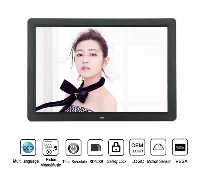 15.4Inch Popular Digital Photo Frame With Fc Ce
