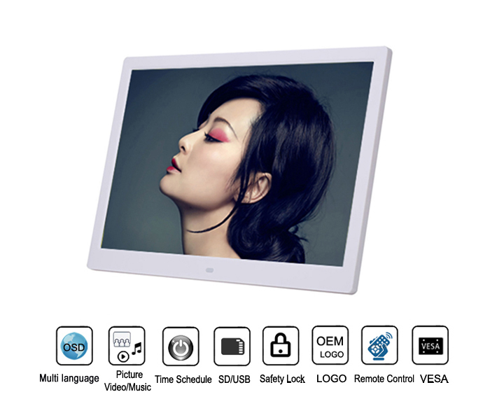 17Inch Best Selling Digital Picture Frame Slideshow Advertising