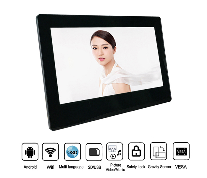11.6Inch Full Hd 1080P Digital Photo Frame With Wifi Android