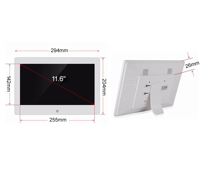 11.6 Inch Commercial Digital Picture Frame Android Wifi Network