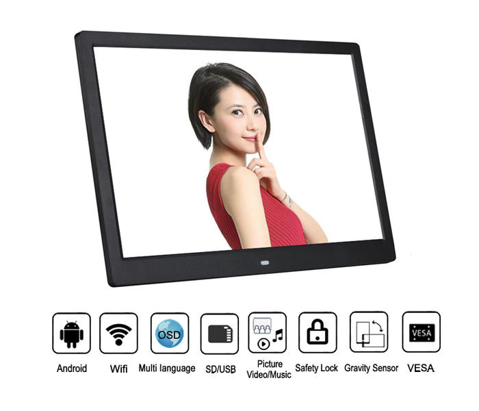 15.4 Inch App Digital Photo Frame With Wifi Network Wireless 3G 4G