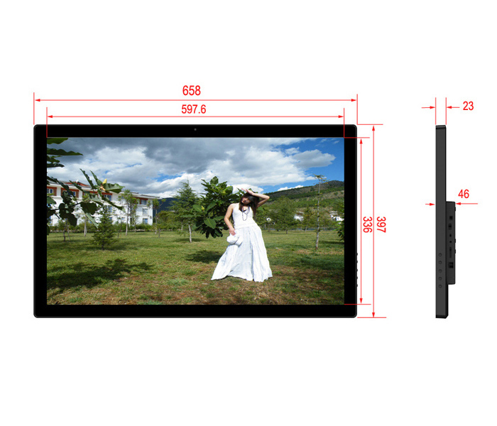 27Inch Commercial Digital Picture Frame Android Wifi Network