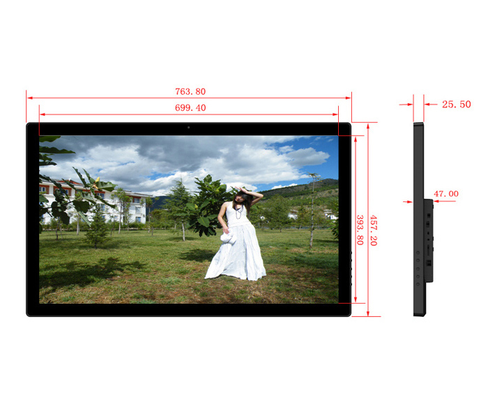 32 Inch Wifi Network Wireless 3G 4G Digital Picture Frame Rohs Manual