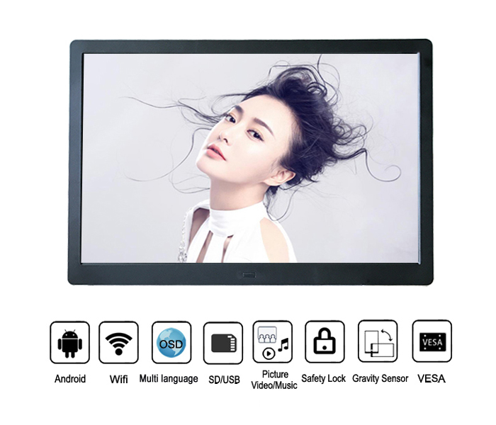 13.3Inch Android Os Digital Photo Frame Full Function