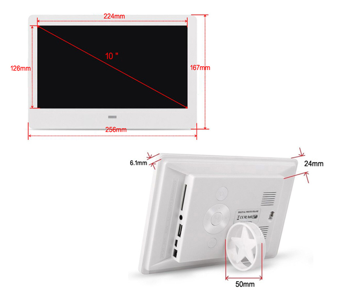 10Inch Hot Selling Digital Picture Frame With Motion Sensor