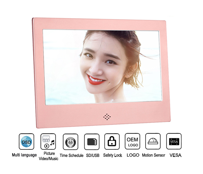 7 Inch Ultra Thin Digital Photo Frame For Christmas Gifts