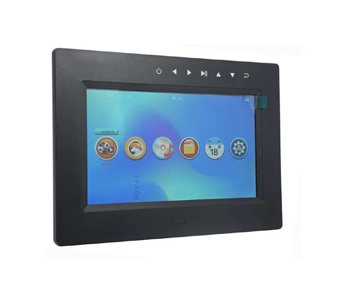 1 Year'S Guarantee Ce Fcc Rohs 7Inch Digital Photoframe With Lithium Touch Button
