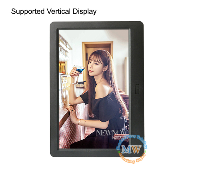Latest Fashion 10.1 Inch 1024*600 Tft Digitalphoto Frame With Lithium Touch Button