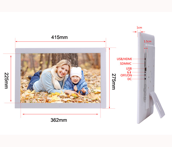 Wholesale 17 Inch Mp3 Mp4 Loop Video Playback Multifunction Digital Picture Frame