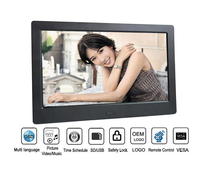 10 Inch Cheap Bulk Wholesale Digital Photo Frame with Mp3 Mp4 Video Loop Player