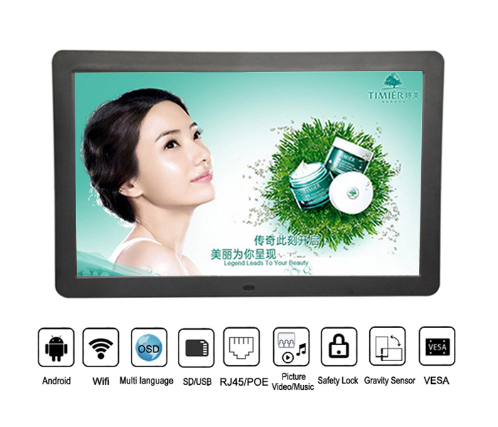 Large Screen 21.5 Inch Wifi Android Advertising Tablet Pc With Poe RJ45 For Meeting Room