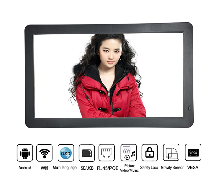 Wall Mounting Ultra Thin 15.6 Inch 3G Gps Os Android Tablet Pc With Vesa And Poe