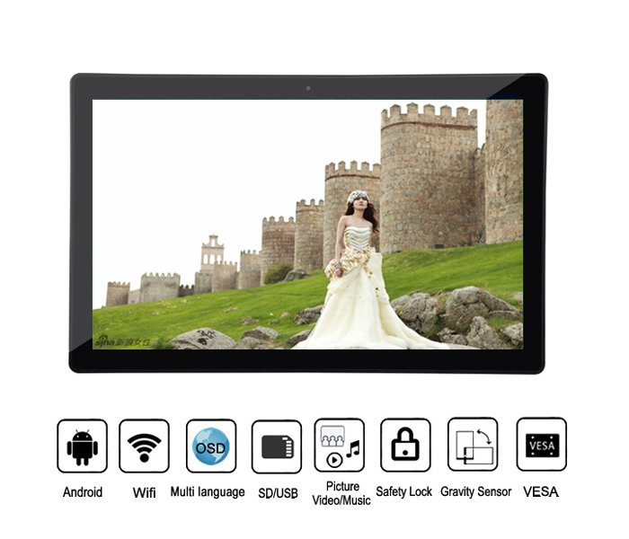 Wall Mounting 15.6 Inch Android Wireless Wifi Lcd Digital Photo Picture Frame 15Inches