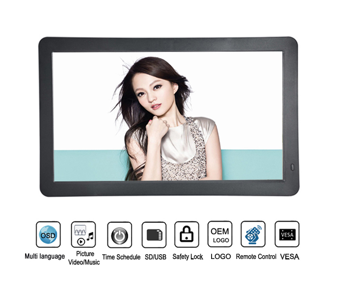 13.3 Inch Lcd Screen Digital Photo Picture Frame With Resolution 1920 1080