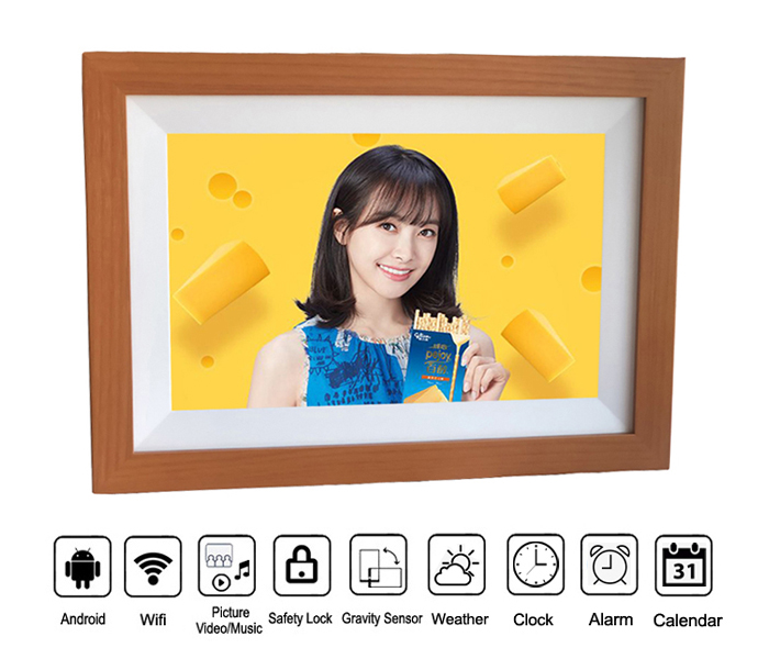 Wifi Cloud 10Inch Electronic Digital Photo Frame With Touch Screen